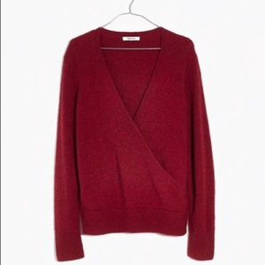 Madewell Wrap Front Pullover Sweater Coziest Yarn